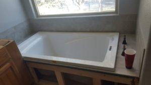 Tub install